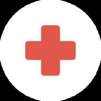 Sala de primeros auxilios y personal